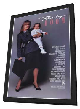 Baby Boom - 11 x 17 Movie Poster - Style A - in Deluxe Wood Frame