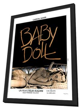 Baby Doll - 27 x 40 Movie Poster - French Style A - in Deluxe Wood Frame
