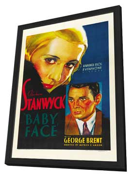 Baby Face - 11 x 17 Movie Poster - Style A - in Deluxe Wood Frame
