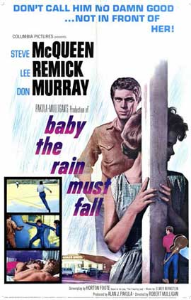 Baby, the Rain Must Fall - 11 x 17 Movie Poster - Style A