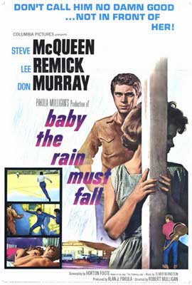 Baby, the Rain Must Fall - 27 x 40 Movie Poster - Style A