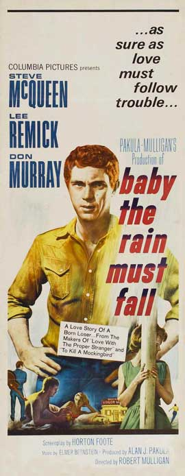 Baby, the Rain Must Fall - 14 x 36 Movie Poster - Insert Style A