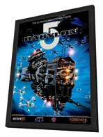 Babylon 5 - 22 x 28 Movie Poster - Half Sheet Style A - in Deluxe Wood Frame