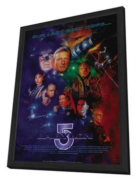 Babylon 5 - 11 x 17 Movie Poster - Style C - in Deluxe Wood Frame