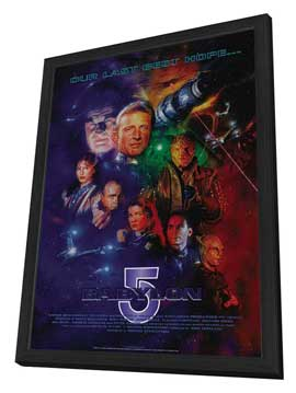 Babylon 5 - 27 x 40 Movie Poster - Style C - in Deluxe Wood Frame