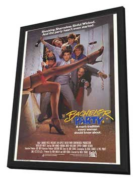 Bachelor Party - 27 x 40 Movie Poster - Style A - in Deluxe Wood Frame