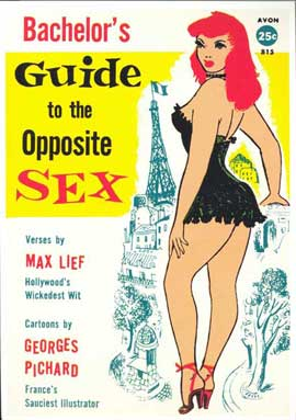 Bachelor's Guide to the Opposite Sex - 11 x 17 Retro Book Cover Poster