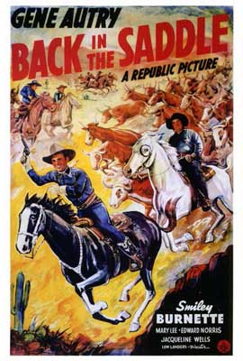 Back in the Saddle - 27 x 40 Movie Poster - Style A