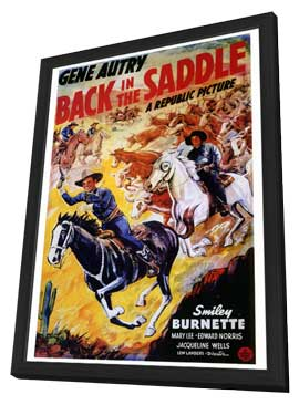 Back in the Saddle - 27 x 40 Movie Poster - Style A - in Deluxe Wood Frame