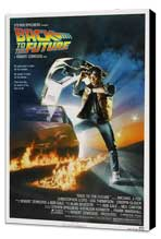 Back to the Future - 27 x 40 Movie Poster - Style C - Museum Wrapped Canvas
