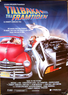 Back to the Future - 27 x 40 Movie Poster - Swedish Style A