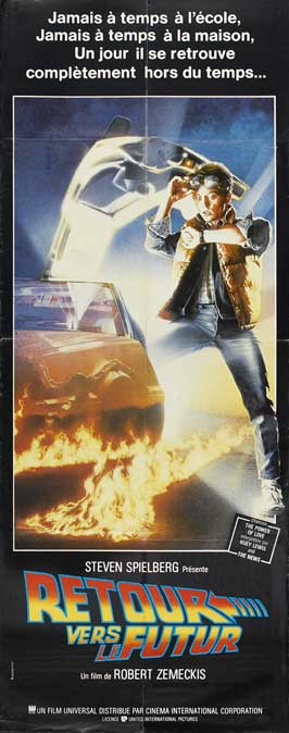 Back to the Future - 14 x 36 Movie Poster - French Style A