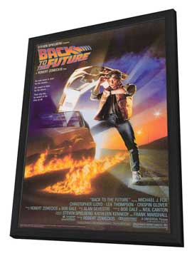 Back to the Future - 27 x 40 Movie Poster - Style A - in Deluxe Wood Frame