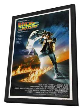 Back to the Future - 27 x 40 Movie Poster - Style C - in Deluxe Wood Frame