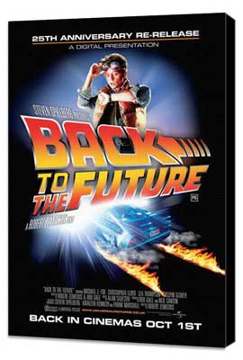 Back to the Future - 11 x 17 Movie Poster - UK Style A - Museum Wrapped Canvas