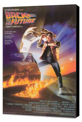 Back to the Future - 27 x 40 Movie Poster - Style A - Museum Wrapped Canvas