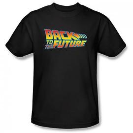 Back to the Future - Logo Black T-Shirt