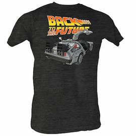 Back to the Future - Car Open Charcoal T-Shirt