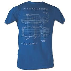 Back to the Future - DeLorean Schematic Turquoise T-Shirt