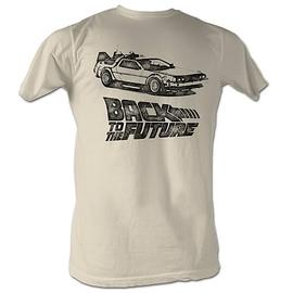 Back to the Future - DMC Ink Tan T-Shirt