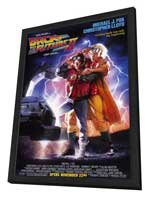 Back to the Future, Part 2 - 11 x 17 Movie Poster - Style A - in Deluxe Wood Frame