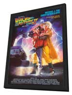 Back to the Future, Part 2 - 27 x 40 Movie Poster - Style A - in Deluxe Wood Frame