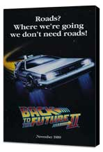 Back to the Future, Part 2 - 27 x 40 Movie Poster - Style D - Museum Wrapped Canvas