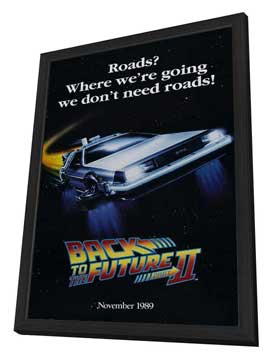 Back to the Future, Part 2 - 27 x 40 Movie Poster - Style D - in Deluxe Wood Frame