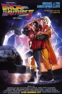 Back to the Future, Part 2 - 11 x 17 Movie Poster - Style A - Museum Wrapped Canvas