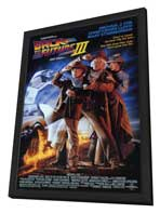Back to the Future, Part 3 - 11 x 17 Movie Poster - Style A - in Deluxe Wood Frame