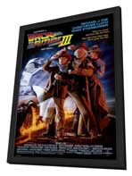 Back to the Future, Part 3 - 27 x 40 Movie Poster - Style A - in Deluxe Wood Frame