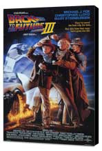 Back to the Future, Part 3 - 11 x 17 Movie Poster - Style A - Museum Wrapped Canvas