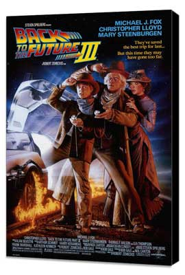 Back to the Future, Part 3 - 27 x 40 Movie Poster - Style A - Museum Wrapped Canvas