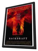 Backdraft - 27 x 40 Movie Poster - Style A - in Deluxe Wood Frame