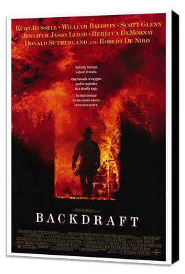 Backdraft - 27 x 40 Movie Poster - Style A - Museum Wrapped Canvas