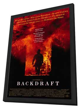 Backdraft - 11 x 17 Movie Poster - Style A - in Deluxe Wood Frame