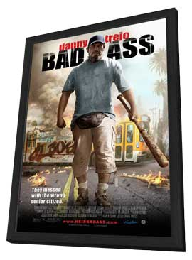 Bad Ass - 11 x 17 Movie Poster - Style A - in Deluxe Wood Frame