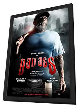 Bad Ass - 11 x 17 Movie Poster - Style B - in Deluxe Wood Frame