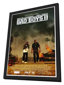 Bad Boys II - 27 x 40 Movie Poster - Style B - in Deluxe Wood Frame