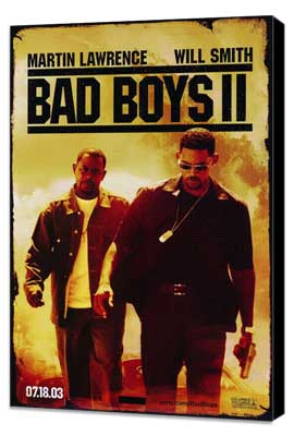 Bad Boys II - 11 x 17 Movie Poster - Style A - Museum Wrapped Canvas