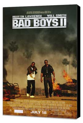 Bad Boys II - 11 x 17 Movie Poster - Style B - Museum Wrapped Canvas