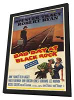 Bad Day at Black Rock - 11 x 17 Movie Poster - Style B - in Deluxe Wood Frame