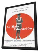 Bad Education - 11 x 17 Movie Poster - Spanish Style A - in Deluxe Wood Frame