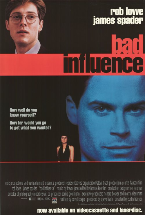 bad influence Bad influence (1990) cast and crew credits, including actors, actresses, directors, writers and more.