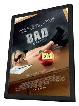 Bad Teacher - 27 x 40 Movie Poster - Style A - in Deluxe Wood Frame