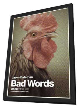 Bad Words - 11 x 17 Movie Poster - Style D - in Deluxe Wood Frame