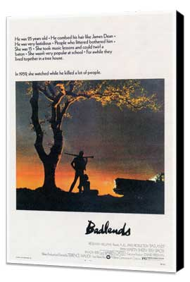 Badlands - 27 x 40 Movie Poster - Style A - Museum Wrapped Canvas
