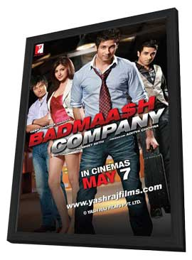 Badmaash Company - 11 x 17 Movie Poster - Indian Style B - in Deluxe Wood Frame