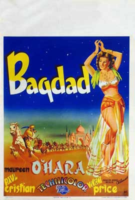 Bagdad - 11 x 17 Movie Poster - Belgian Style A
