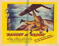 Bail Out at 43,000 - 22 x 28 Movie Poster - Half Sheet Style A
